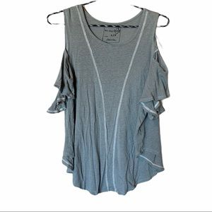 We the free cold shoulder shortsleeve small top